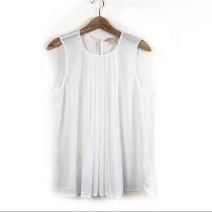 Michael Michael Kors White Sleeveless Top Large